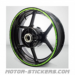 """fluo"" style Rim stripes"