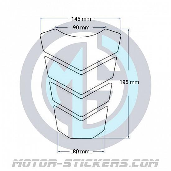 Tankpad Kawasaki GTR 1400 Carbon