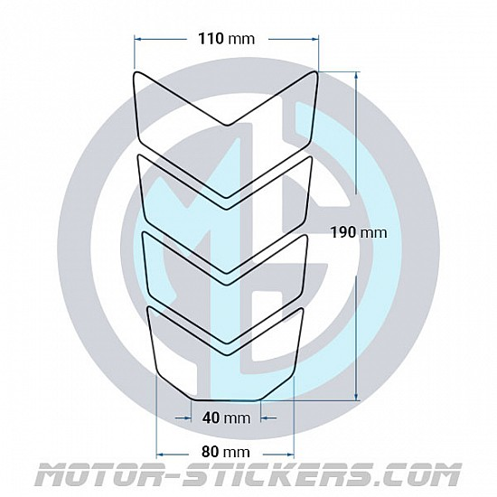 Tankpad BMW K 1200R Carbon